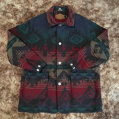 Vintage Men's Woolrich Aztec Print Wool Jacket Size XL MADE IN USA