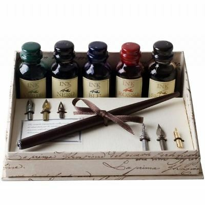 Calligraphy Set Wooden Pen, Large Inks and Nibs Set, Great Gift