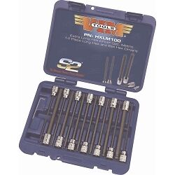 Vim Products HXLM100 14 Piece Extra Long Metric Hex and Ball Hex Driver Set