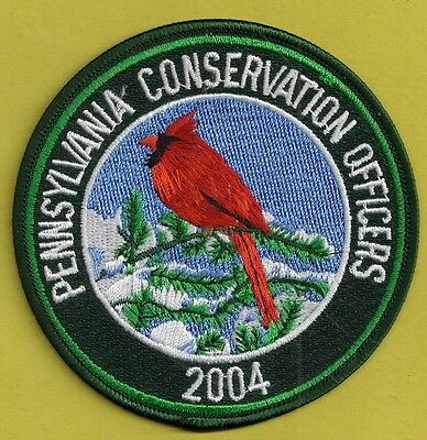 Pa Fish Game Commission Pennsylvania Conservation Officers 2004 Cardinal Patch