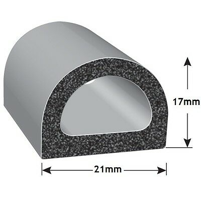 Exitex Heavy Duty Constructor Black Epdm Self Adhesive D Seal 1 Metre