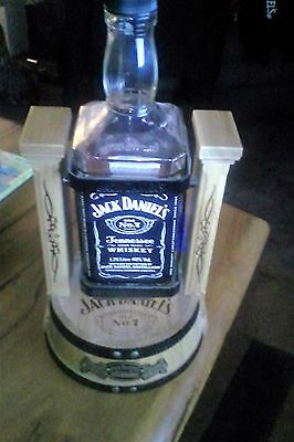 jack daniels cradle 1.75lt - 2011? with empty bottle