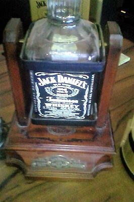 jack daniels cradle 1.75lt - 2007? with empty bottle