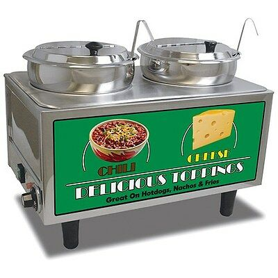 """Chili and Cheese Warmer - 21""""Wx13""""Dx17""""H"""