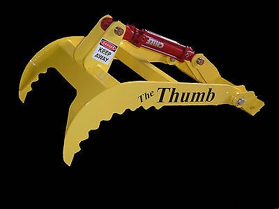 "New bucket Thumb grapple for Skid steer loader tractor(Small)20"" 24"" or 28"" Long"