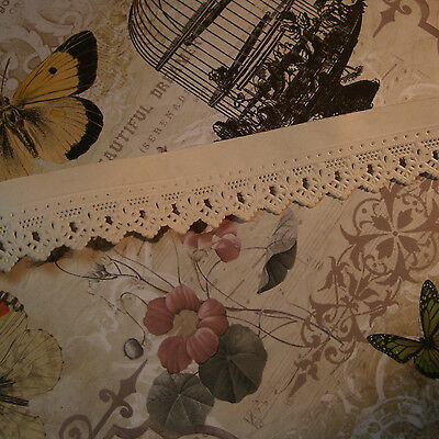 """German dresden paper antique vintage embossed lace tape trim authentic 18th 1"""""""