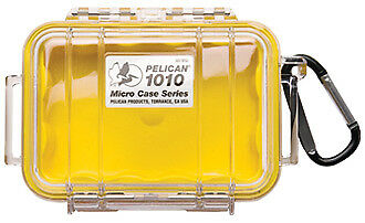 Pelican Microcases in Red with Clear lid, Yellow with Clear lid