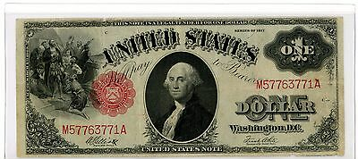 1917 $1 US Note – Large FR-38m Mule Note Small Red Seal