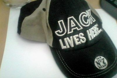 jack daniels cap - jack lives here black and tan