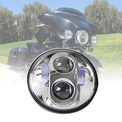 """5-3/4"""" 80W Daymaker Round LED Projector Hi/Lo Beam Headlight for Harley Davidson"""