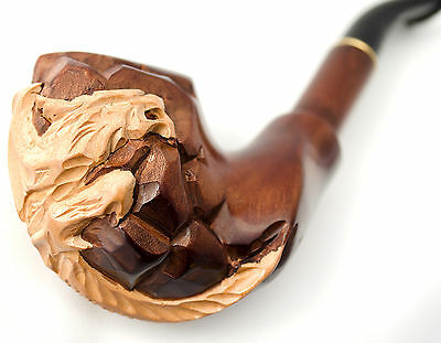 Tobacco Pipe Wooden Enchase Smoking Cigarettes Pipes Gift Mens AMAZING DRAGON