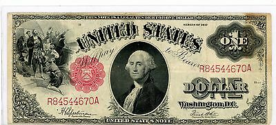 1917 US Note $1 Legal Tender Fr#39, F-VF Condition