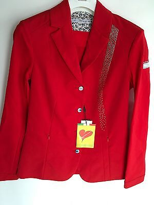 Animo Show Competion Jacket Red i42 Uk10 US8 BN