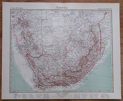 1926 Südafrika South Africa Afrika Kupferstich Alte Landkarte Karte Antique Map