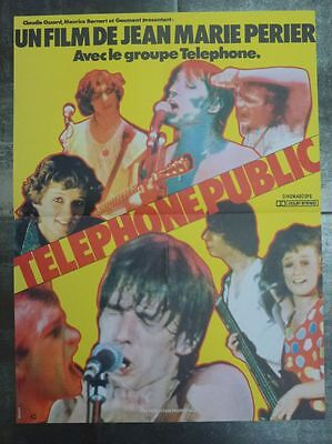 TELEPHONE PUBLIC J. L. Aubert 1982 Affiche Originale 40x50 Vintage Movie Poster