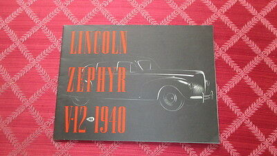 1940 Lincoln Zephyr & Continental Prestige Sales Brochure In Original Envelope