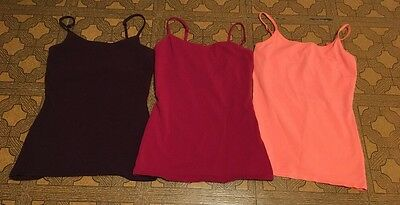 Lot of 3 Express Best Loved Cami Tops Purple/Magenta/Coral Size Small
