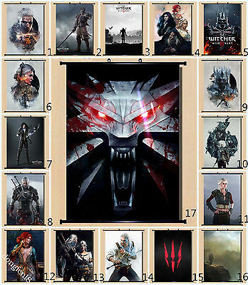 Hot Game The Witcher 3 Home Decor Wall Wand Scroll Malerei Tuch Poster 60X80cm