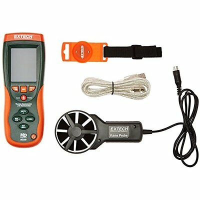 Wind Speed Gauges Extech Instruments HD300 CFMCMM Thermo-Anemometer with