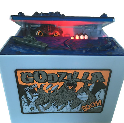 New Coin Bank 1Piece Godzilla Monster Dinosaur Moving Musical Electronic Chirldr