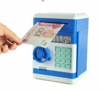 New Coin Bank Mini Atm Money Box Safety Electronic Password Chewing Coins Cash