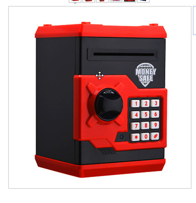 New Coin Bank Creative Design Red Metal Piggy Money Telephone Booth Kids Coin