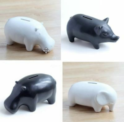 New Coin Bank Large Piggy Bank Creative Gifts Black And White And Dichromatic