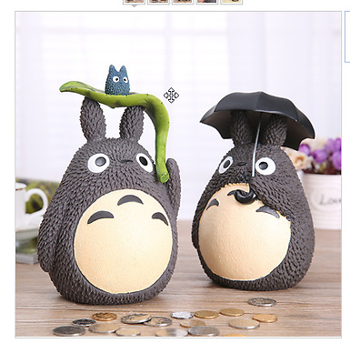 New Coin Bank Anime My Neighbor Totoro Piggy Bank PVC Figure Kids Toys Gifts