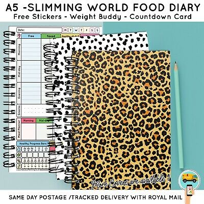 Food Diet Diary Slimming World Compatible Planner Log Weight Loss Aid Record 3-6
