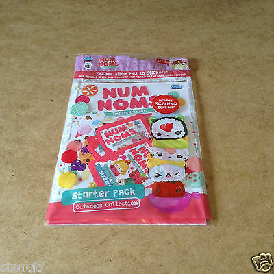 Topps Num Noms Smell So Delicious Sticker Starter Pack Album & 6 Packets
