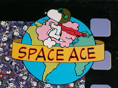 Vintage Snoopy Flying Ace magic eye 3d poster - 1993 Holusion Peanuts