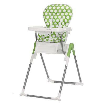 Obaby Nanofold Hi Lo Highchair - Dotty Lime - NEW