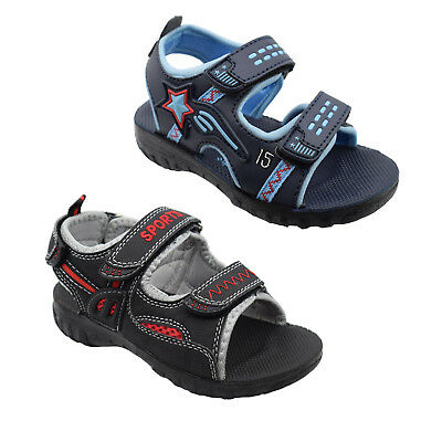 New Boys Childrens Kids Infant Beach Holiday Casual Aviator Sandals Sizes 6 - 11
