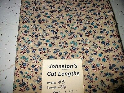 antique?vtg?cotton fabric-butterfly/blue flowers-quilts?doll clothes-feed sacks?