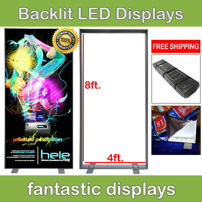RADIANT 4ft Light Box Backdrop LED Backlit Trade Show Wall Pop Up Display Booth
