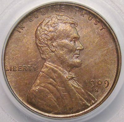 1909 S VDB Lincoln Cent PCGS MS-62 BN