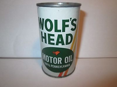 Wolf's Head Motor Oil Metal Coin Bank