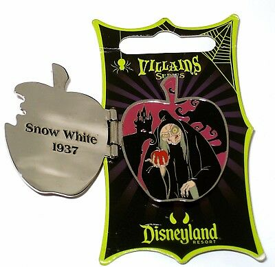LE Disney Pin✿Snow White Evil Queen Villain Old Hag Apple Bad to the Core Opens