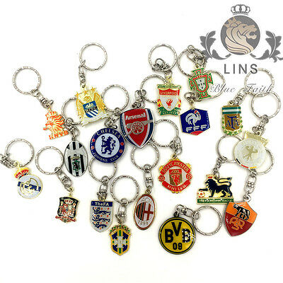Famous football Key chain AFC MUFC football teams Colored alloy key ring