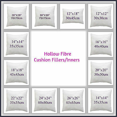 """100% Hollowfibre Cushion Pads~Filler~inners 12"""" 14"""" 16"""" 18"""" 20"""" 22"""" 24"""" 26""""28""""30"""