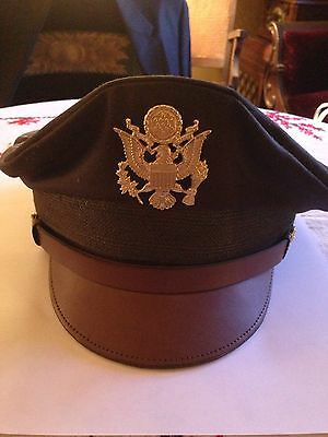 WWII US Officers Peaked Hat