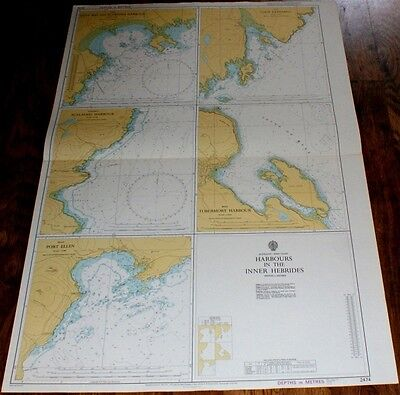Nautical Chart No. 2474, Harbours in the Inner Hebrides: Various scales. 1976