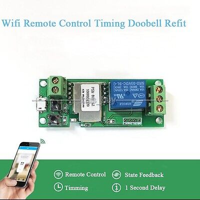 5V 12V Sonoff WiFi Wireless Smart Switch Relay F Smart Home phone Apple Android