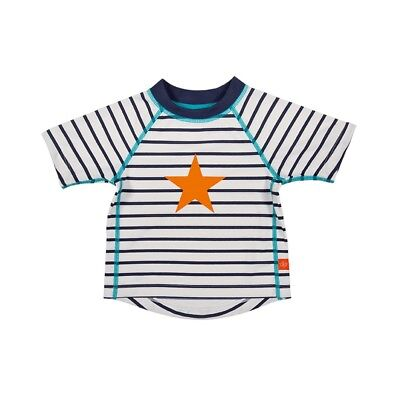 Lässig Baby Boy's UV protection swim Shirt Star striped shortsleeve