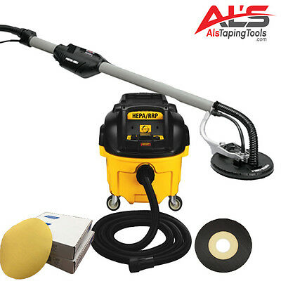 Porter Cable 7800 Professional Drywall Sanding System w/DeWalt Vacuum & Discs