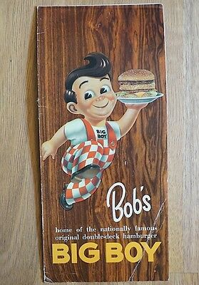 Rare Vintage Original 1970S Bobs Big Boy Restaurant Menu