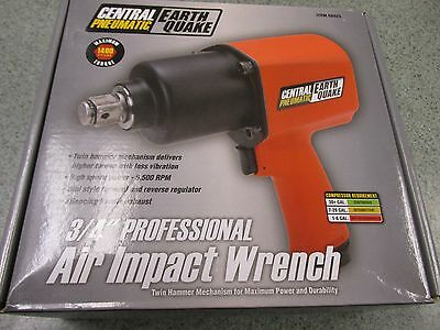 """Central Pneumatic EarthQuake 68423 3/4"""" Professional Air Impact Wrench"""