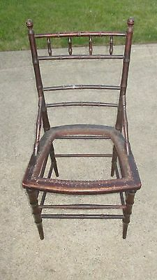 Antique Victorian Bamboo Cane Seat Side Chair