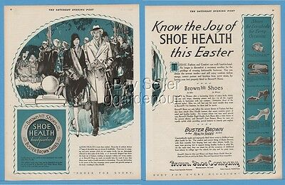 1928 Buster Brown Shoes St Louis MO Easter 1920s mens womens Fashion Style Ad