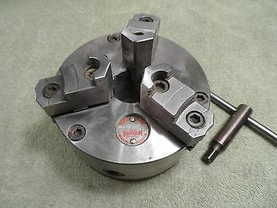 "Machinist Lathe Tool: 6-1/4"" 3-Jaw Cushman Chuck, 1-1/2""-8 TPI, South Bend"
